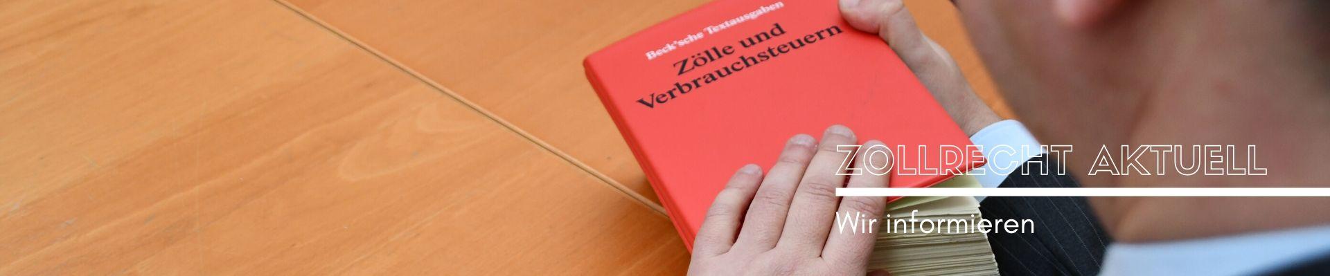 Rechtsanwalt Axel Krause - Zollrecht Aktuell